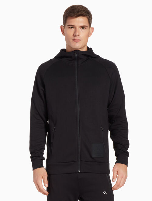 CALVIN KLEIN MODERN SWEAT JACKET WITH HOOD