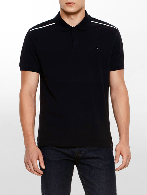 CALVIN KLEIN CLASSIC FIT LIQUID COTTON INTERLOCK POLO SHIRT