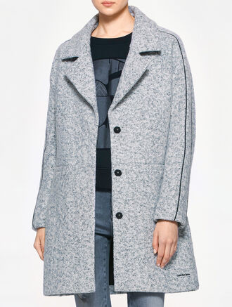 CALVIN KLEIN ORLI LONG WOOL COAT