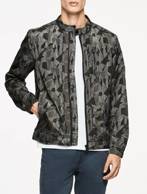 CALVIN KLEIN ANTO ALL OVER PRINT BOMBR JACKET