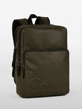 CALVIN KLEIN SQUARE 2-ZIP BACKPCK