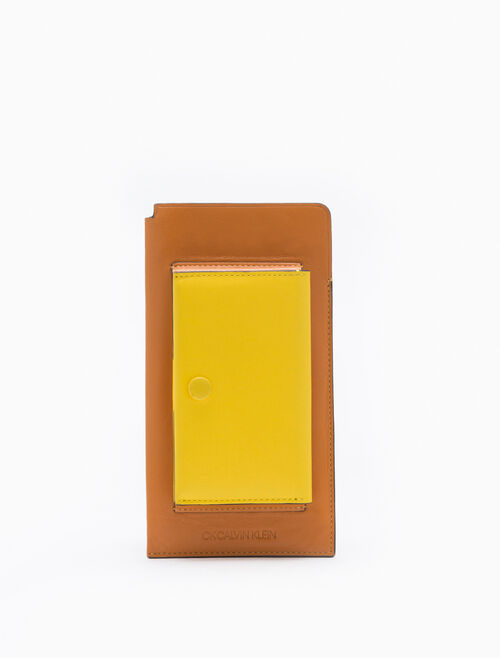 CALVIN KLEIN TWO-TONED PHONE SLEEVE WITH CARD CASE
