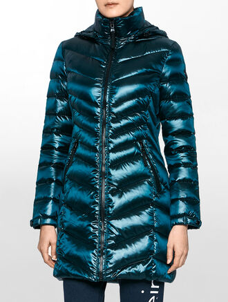 CALVIN KLEIN LONGLENGTH ZIP DOWN JACKET