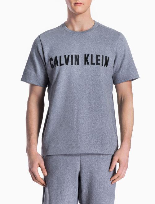CALVIN KLEIN LOGO SHORT-SLEEVE PULLOVER