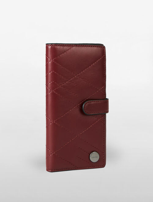CALVIN KLEIN CITY GRID STITCH PHONE CASE