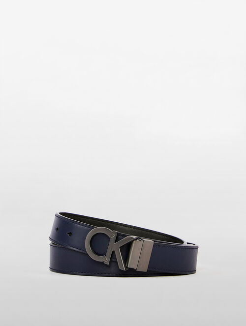 CALVIN KLEIN CROSS STITCH LOGO BELT