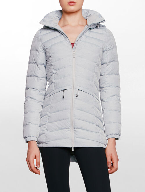 CALVIN KLEIN PACKABLE HOODED DOWN  JACKET