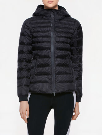CALVIN KLEIN ALL OVER PRINT MID LENGTH DOWN JACKET