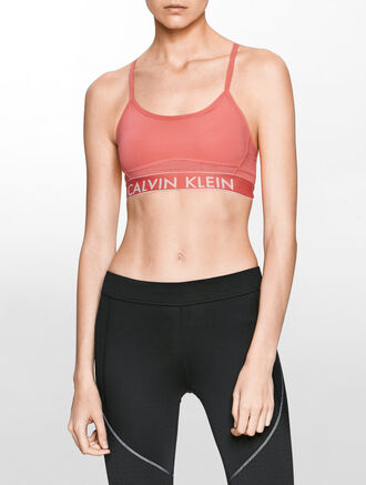 CALVIN KLEIN ADJUSTABLE STRAPS BRA TOP