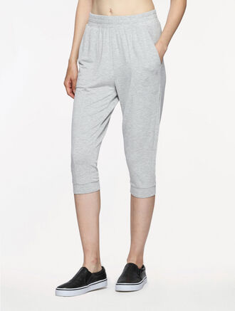CALVIN KLEIN DROP CROTCH CROP PANTS