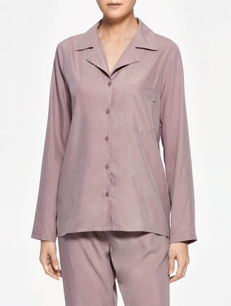 CALVIN KLEIN ULTRA MODAL  LONG SLEEVES TOP WITH BUTTONS