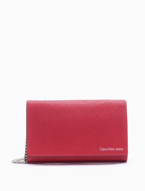 CALVIN KLEIN CARA LARGE ACCORDION CROSSBODY BAG