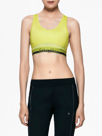 CALVIN KLEIN RACERBACK TOP WITH CK LOGO WAISTBAND WITH CK LOGO WAISTBAND