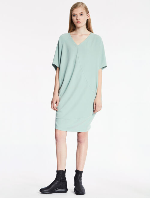 CALVIN KLEIN HEAVY STRETCH CREPE DRESS