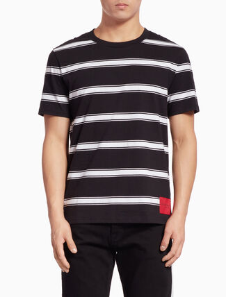 CALVIN KLEIN STRIPED SHORT-SLEEVE TEE