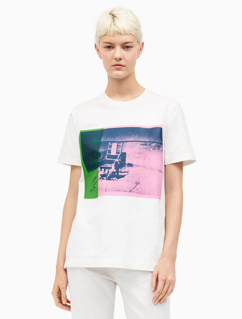 CALVIN KLEIN big electric chair crewneck t-shirt