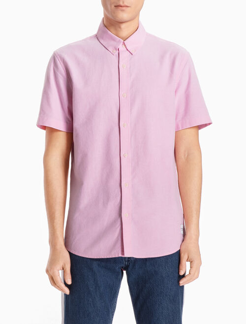 CALVIN KLEIN SHORT-SLEEVE OXFORD SHIRT IN SLIM FIT