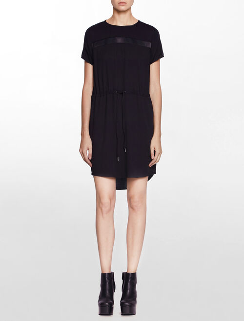 CALVIN KLEIN DAMIA WOVEN MM DRESS