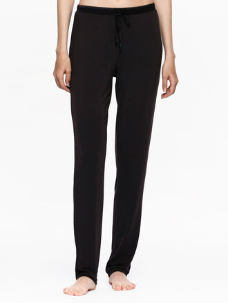 CALVIN KLEIN BLACK SILK KNIT PANT