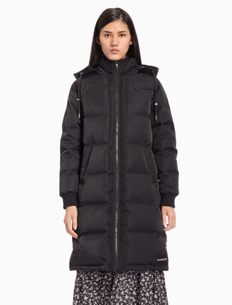 CALVIN KLEIN BASIC LONG DOWN JACKET WITH HOOD