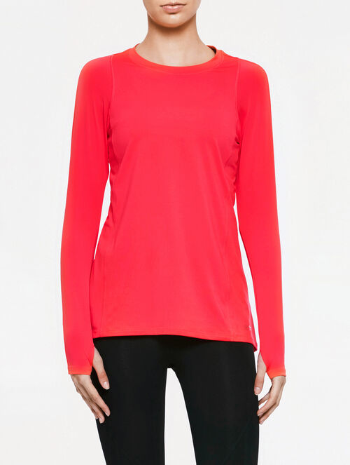 CALVIN KLEIN PLEAT BACK LONG SLEEVES TOP