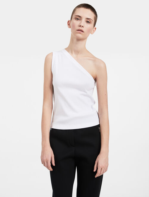 CALVIN KLEIN RIBBED ONE-SHOULDER TOP