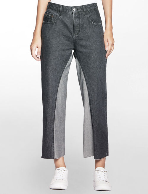 CALVIN KLEIN BLACK STONE HIGH RISE RELAX FIT JEANS