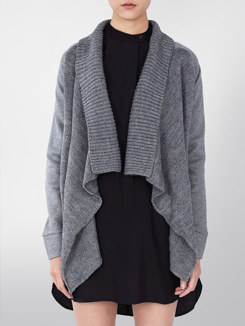CALVIN KLEIN MIXED MIDEA OPEN CARDIGAN