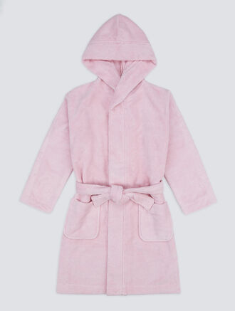 CALVIN KLEIN KIDS MODERN COTTON ROBE - GIRLS