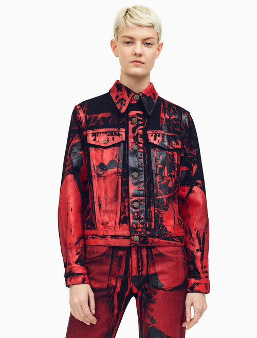 CALVIN KLEIN Flowers Archive Trucker Jacket