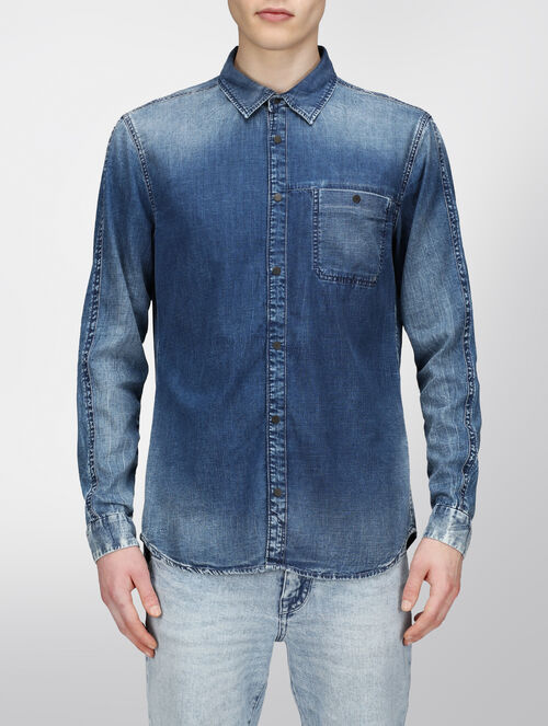 CALVIN KLEIN OCEAN DENIM SHIRT