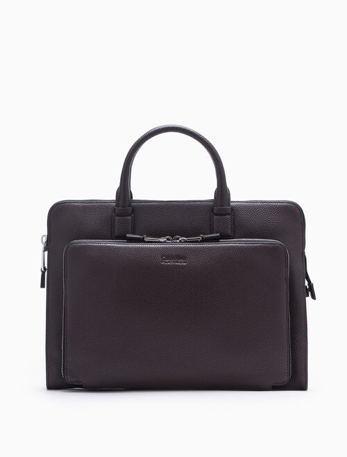 CALVIN KLEIN ENGINEERED CASUAL MICRO PEBBLE PORTFOLIO BRIEFCASE