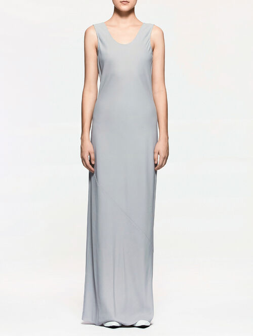 CALVIN KLEIN CREPE SLEEVELESS EVENING DRESS