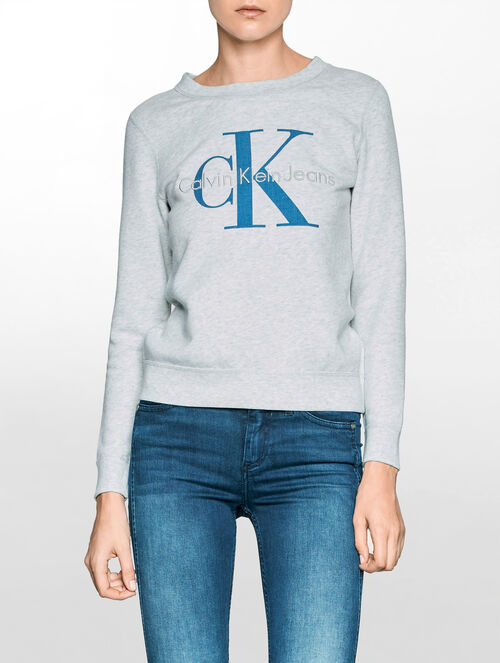 CALVIN KLEIN HADLEY CREW NECK HEAVY WEIGHT KNIT LONG SLEEVES