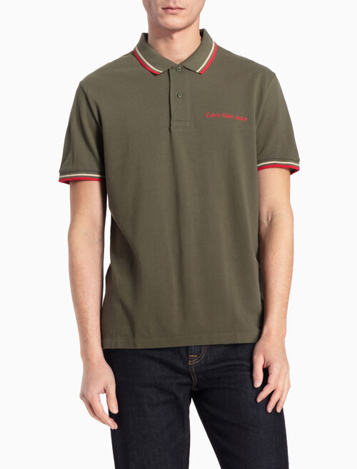 CALVIN KLEIN LOGO POLO SHIRT IN REGULAR FIT