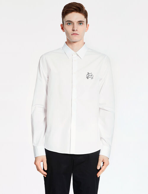 CALVIN KLEIN SOFT DENSE POPLIN SHIRT - MONSTER