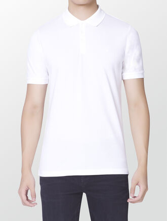 CALVIN KLEIN COTTON PIQUE FITTED POLO
