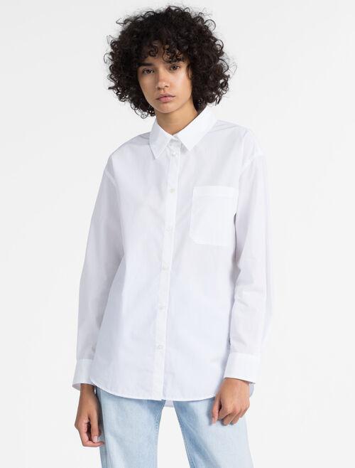 CALVIN KLEIN 오버사이즈 포플린 셔츠