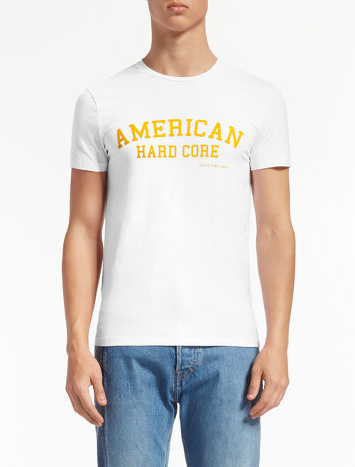 CALVIN KLEIN SLOGAN PRINT TEE IN SLIM FIT