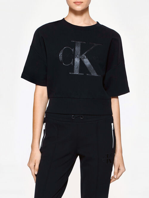 CALVIN KLEIN CALVIN TRACK WOMEN CROP SWEAT TEE