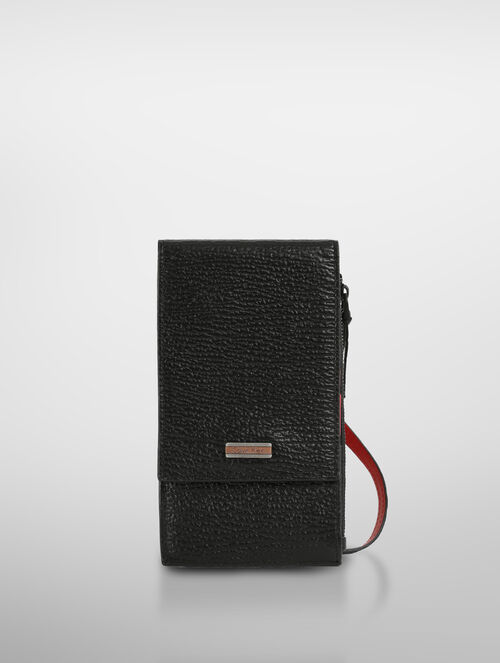 CALVIN KLEIN STREAMLINE AURA VERTICAL WALLET WITH DETACHABLE STRAP