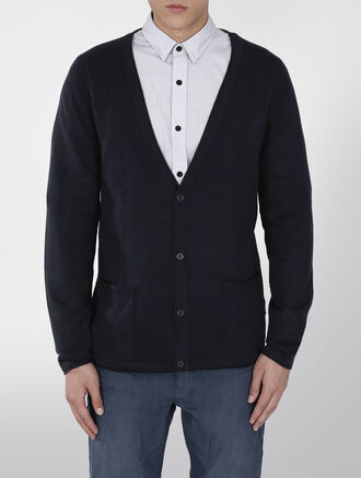 CALVIN KLEIN WOOL SWEATER CARDIGAN