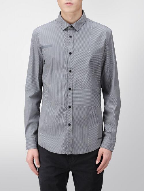 CALVIN KLEIN マルチストライプシャツ