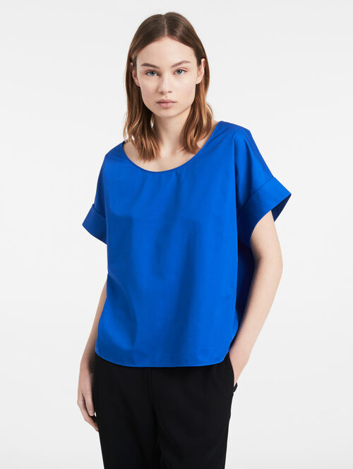CALVIN KLEIN REFINED COTTON TWILL TOP