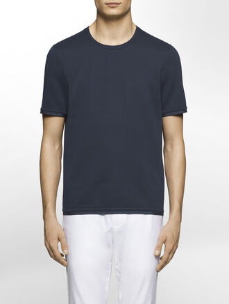 CALVIN KLEIN SCULPTED DOUBLE FACE JERSEY SHORT SLEEVES SWEATSHIRT( C-SLIM FIT )