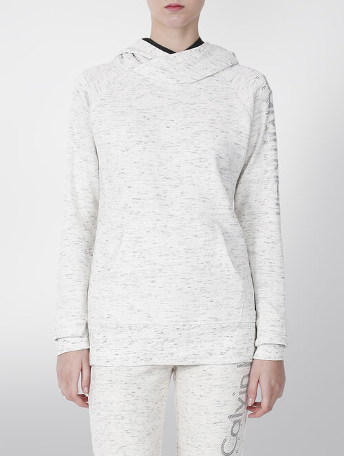 CALVIN KLEIN GRADIENT DOT LOGO FLEECE DOUBLE HOODED PULLOVER
