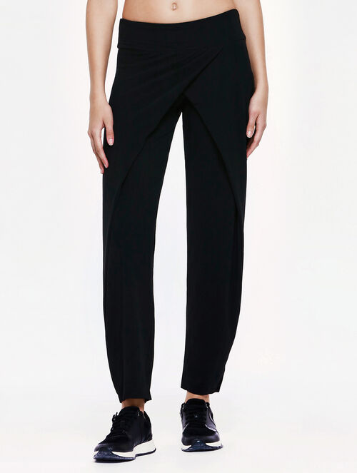 CALVIN KLEIN PLEAT SLIM KNIT PANTS
