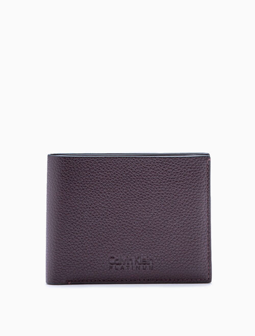 CALVIN KLEIN PEBBLE LEATHER BILLFOLD WALLET