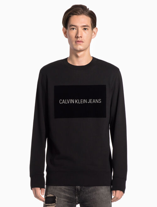 CALVIN KLEIN INSTITUTIONAL LOGO 스웨트셔츠