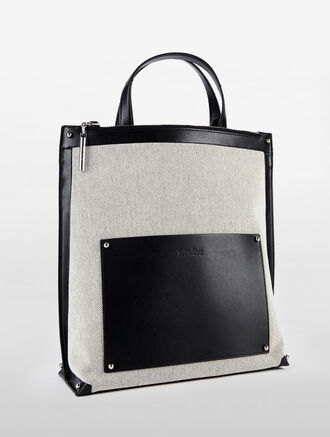 CALVIN KLEIN EDGED NORTH/SOUTH TOTE